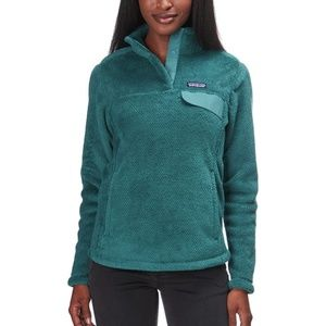 Patagonia Re-Tool Snap-T teal fleece pullover